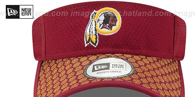 8891ca817 ... Redskins  HONEYCOMB STADIUM VISOR  Burgundy by New Era ...