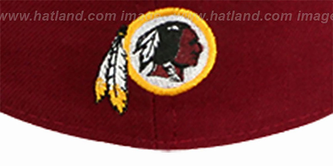 Redskins 'NFL 2T CHOP-BLOCK' Burgundy-Gold Fitted Hat by New Era