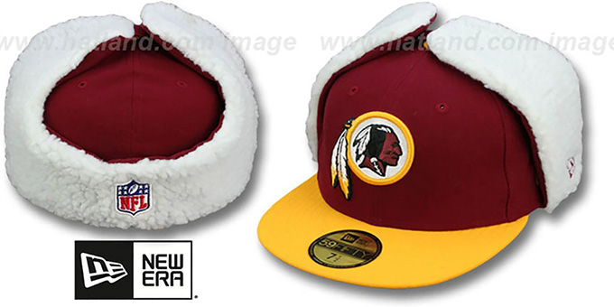 Redskins 'NFL-DOGEAR' Burgundy-Gold Fitted Hat by New Era