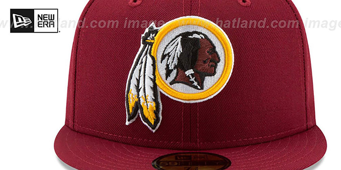 Redskins 'NFL TEAM-BASIC' Burgundy Fitted Hat by New Era