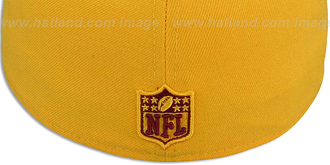 Redskins 'NFL-TIGHT' Gold-Burgundy Fitted Hat by New Era