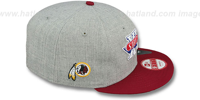 Redskins 'SUPER BOWL XVII SNAPBACK' Grey-Burgundy Hat by New Era