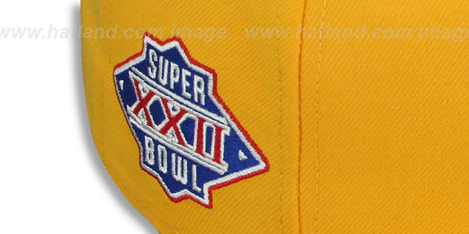 Redskins 'SUPER BOWL XXII' Gold Fitted Hat by New Era
