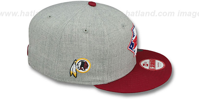 Redskins 'SUPER BOWL XXII SNAPBACK' Grey-Burgundy Hat by New Era