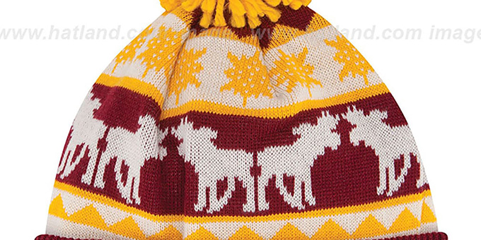 Redskins 'THE-MOOSER' Knit Beanie Hat by New Era