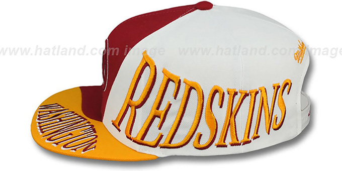 Redskins 'THE SKEW SNAPBACK' Hat by Mitchell & Ness