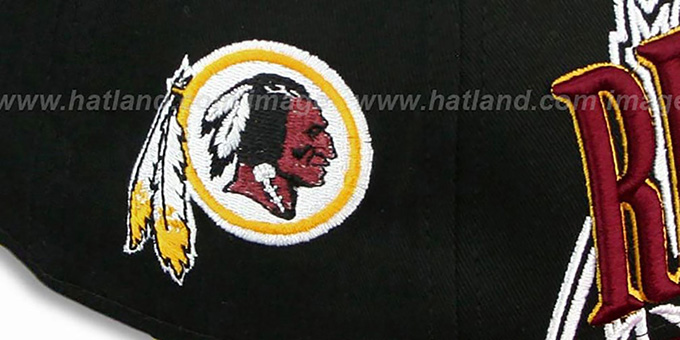 Redskins 'THROUGH SNAPBACK' Black-Burgundy Hat by New Era