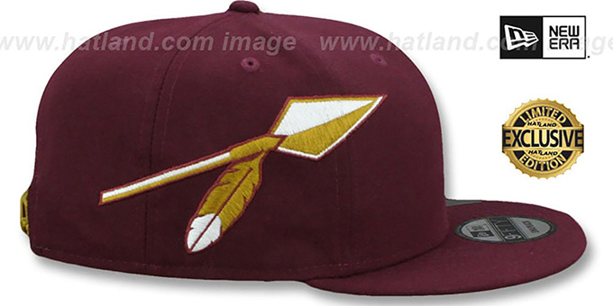 Redskins 'THROWBACK SPEARS SNAPBACK' Maroon Hat by New Era