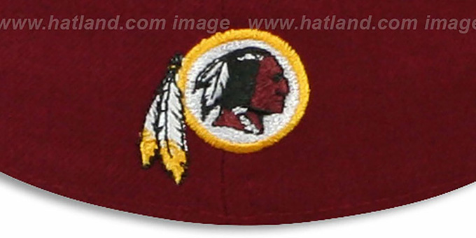 Redskins 'WORD-KNOCK' Burgundy-Gold Fitted Hat by New Era