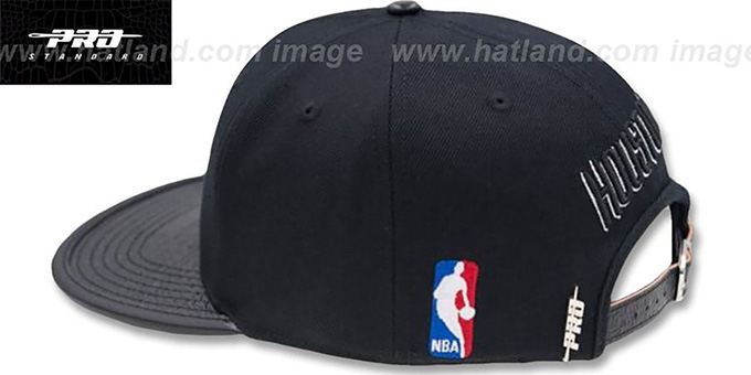 Rockets 'METALLIC POP STRAPBACK' Black Hat by Pro Standard