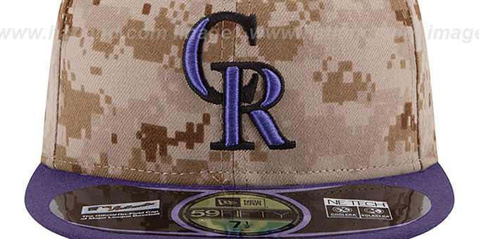 Rockies '2014 STARS N STRIPES' Fitted Hat by New Era