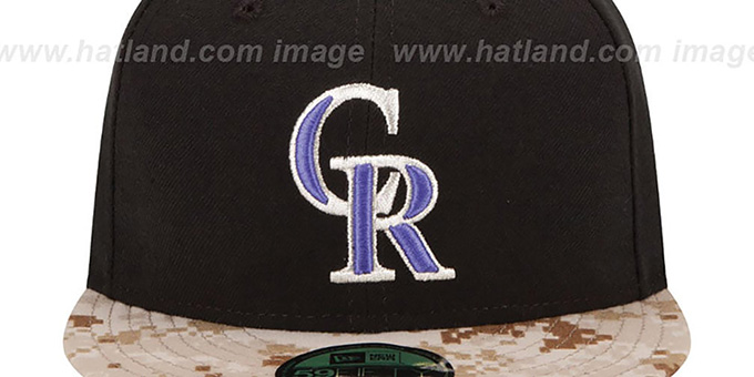 Rockies '2015 STARS N STRIPES' Fitted Hat by New Era