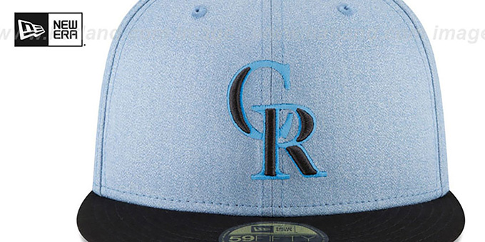 Rockies '2018 FATHERS DAY' Sky-Black Fitted Hat by New Era