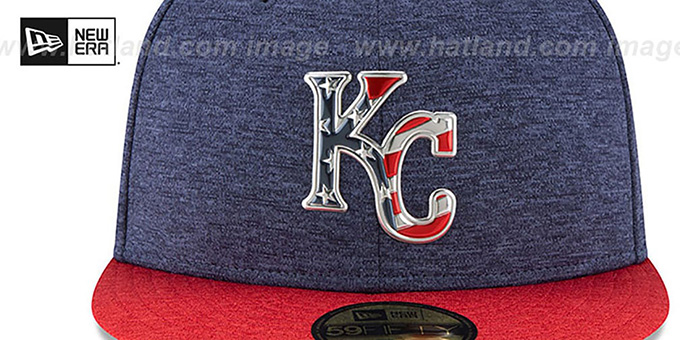... Royals  2017 JULY 4TH STARS N STRIPES  Fitted Hat by New Era ... c20274c8a41