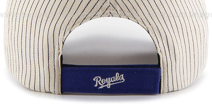 Royals 'HOME-RUN PINSTRIPE STRAPBACK' Hat by Twins 47 Brand