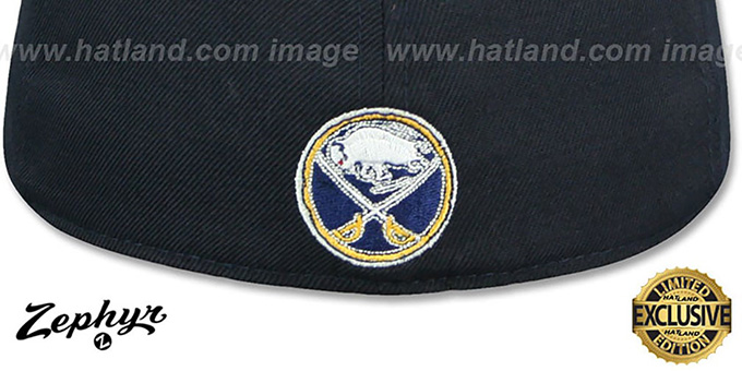 Sabres 'SHOOTOUT' Navy Fitted Hat by Zephyr