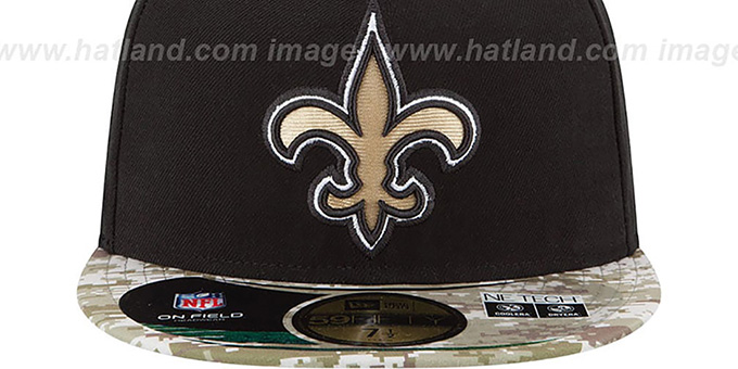 Saints '2014 SALUTE-TO-SERVICE' Black-Desert Fitted Hat by New Era