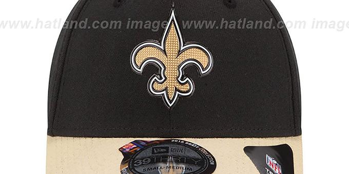 cdaf89a0 New Orleans Saints 2015 NFL DRAFT FLEX Hat by New Era
