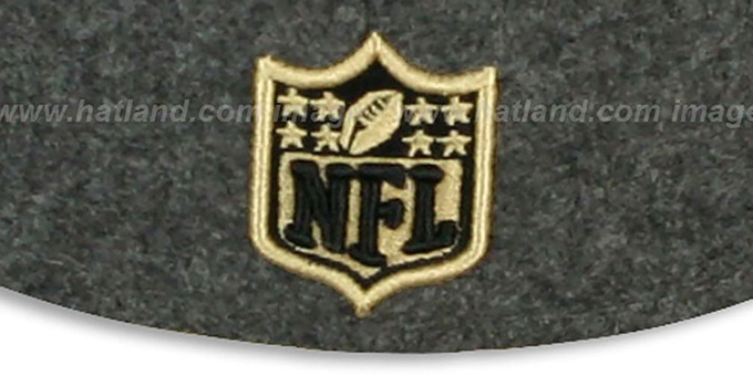 Saints '2T NFL MELTON-BASIC' Grey-Gold Fitted Hat by New Era