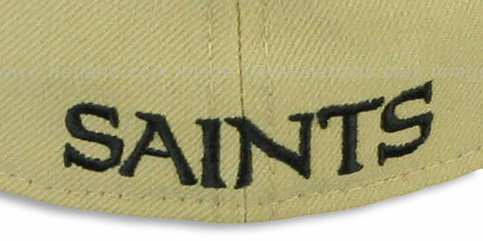 Saints 'NFL 2T-TEAM-BASIC' Gold-Black Fitted Hat by New Era