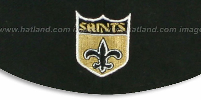 Saints 'NFL 2T THROWBACK TEAM-BASIC' Black-Gold Fitted Hat by New Era