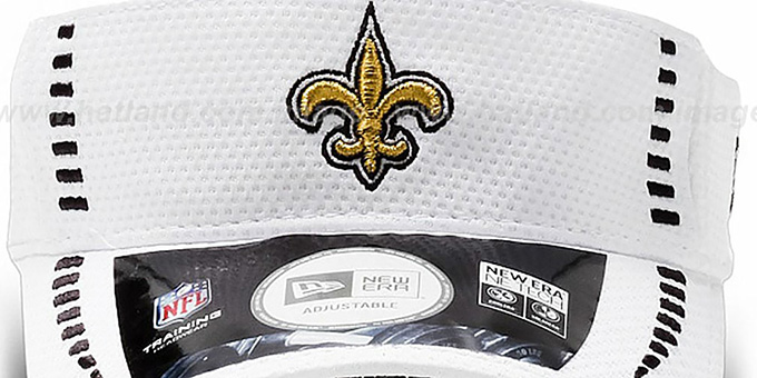 Saints 'NFL TRAINING' White Visor by New Era