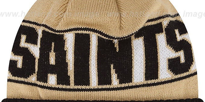 Saints 'REP-UR-TEAM' Knit Beanie Hat by New Era