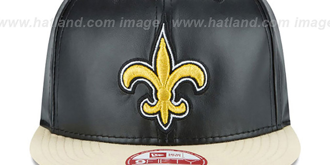 Saints 'SMOOTHLY STATED SNAPBACK' Black-Gold Hat by New Era