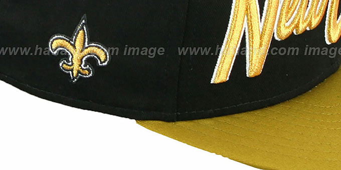 Saints 'SNAP-IT-BACK SNAPBACK' Black-Gold Hat by New Era