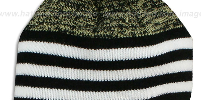 Saints 'SNOWFALL STRIPE' Knit Beanie Hat by New Era