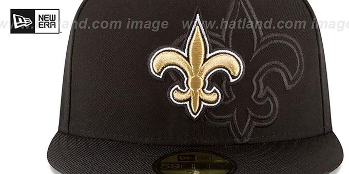 aee9bb88baa1e ... Saints  STADIUM SHADOW  Black Fitted Hat by New Era ...