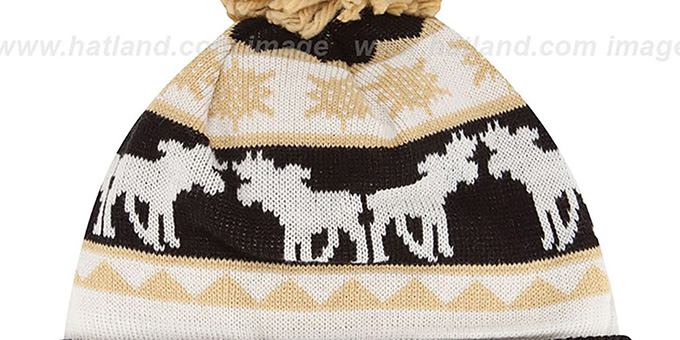 Saints 'THE-MOOSER' Knit Beanie Hat by New Era