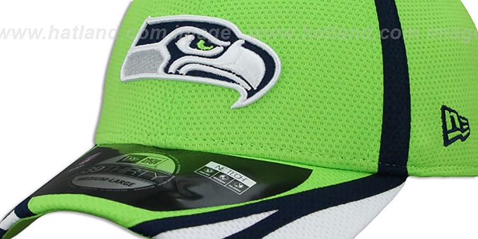 Seahawks '2014 NFL TRAINING FLEX' Lime Hat by New Era