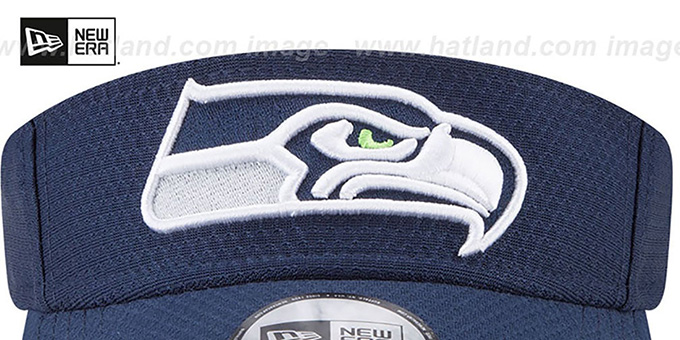 Seahawks '2017 NFL TRAINING VISOR' Navy by New Era