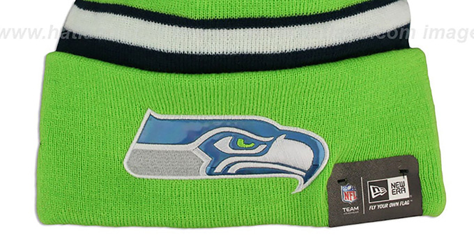 Seahawks 'BIG-SCREEN' Knit Beanie Hat by New Era