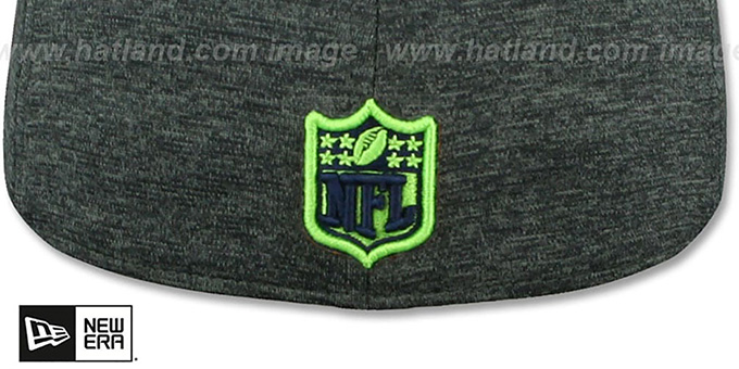 Seahawks 'HEATHER-HUGE' Grey-Black Fitted Hat by New Era