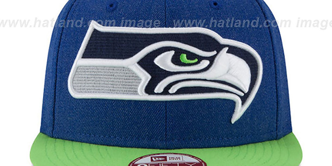 Seahawks 'LOGO GRAND SNAPBACK' Royal-Lime Hat by New Era