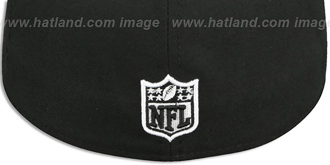 Seahawks 'NFL TEAM-BASIC' Black-White Fitted Hat by New Era
