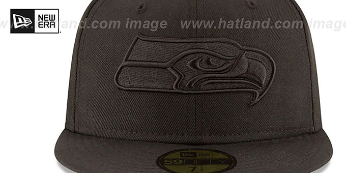 Seahawks 'NFL TEAM-BASIC BLACKOUT' Fitted Hat by New Era