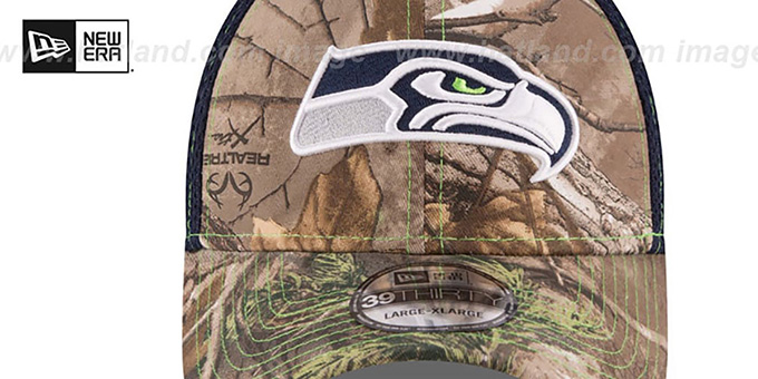Seahawks 'REALTREE NEO MESH-BACK' Flex Hat by New Era
