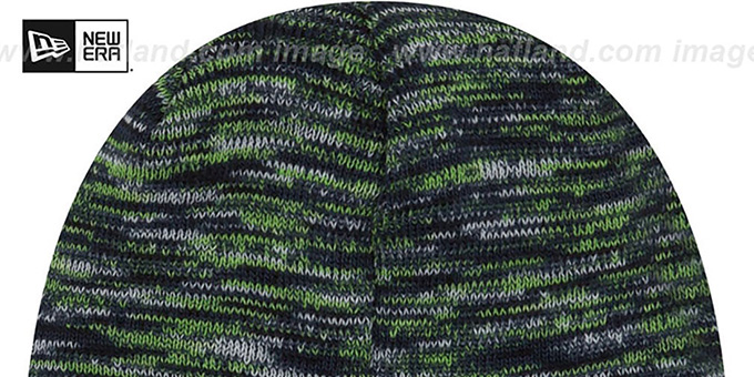 Seahawks 'TEAM-CRAZE' Navy-Lime Knit Beanie Hat by New Era