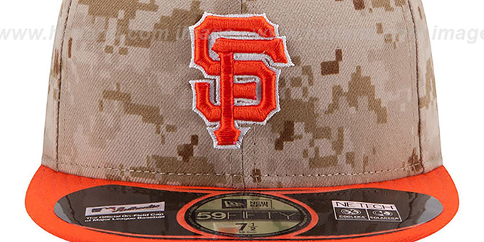 SF Giants '2014 STARS N STRIPES' Fitted Hat by New Era