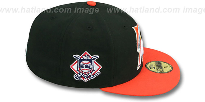 SF Giants 'BAYCIK' Black-Orange Fitted Hat by New Era