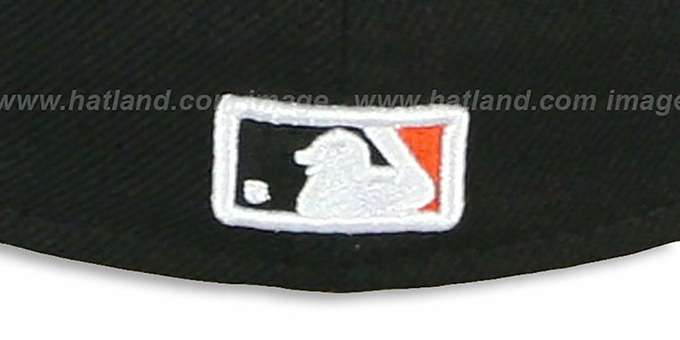 SF Giants 'CHENILLE APPLIQUE' Black Fitted Hat by New Era