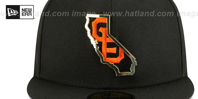SF Giants 'GOLD STATED INSIDER' Black Fitted Hat by New Era