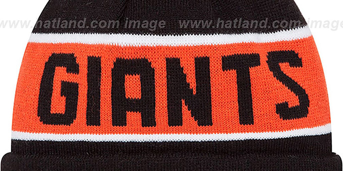 SF Giants 'THE-COACH' Black Knit Beanie Hat by New Era