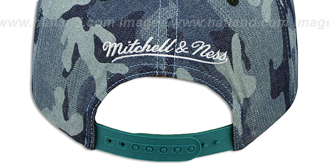 Sharks 'DENIM-CAMO SNAPBACK' Blue Hat by Mitchell and Ness