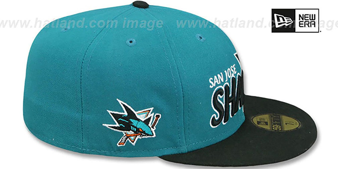 Sharks 'NHL-TIGHT' Teal-Black Fitted Hat by New Era