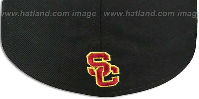 Southern California '2T NCAA-BASIC' Black-Burgundy Fitted Hat by New Era