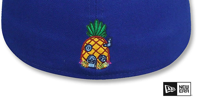 Sponge Bob 'BUTT BUMP' Royal Fitted Hat by New Era